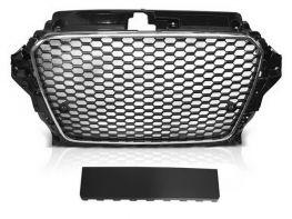 Решётка AUDI A3 8V (12-16) - RS3 стиль (хром чёрная)