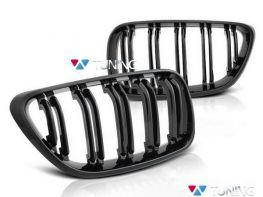 Решётка BMW F22 / F23 (14-18) - M2 стиль - чёрная глянцевая