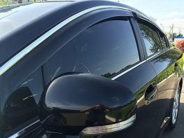 Ветровики TOYOTA Avensis III T270 Sedan - HIC (с хром молдингом)