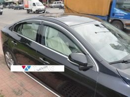 Дефлекторы окон MERCEDES C W205 (2014-) Sedan - HIC хром