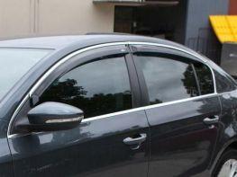 Ветровики VW Passat B6/B7 3C (05-15) Sedan хром молдинг