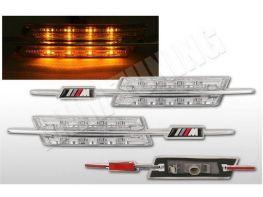 "Повороты боковые BMW 5 E60 / E61 (03-10) ""M"" LED хром"