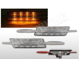 "Повороты в крылья BMW 5 E39 (95-03) ""M"" LED хром"