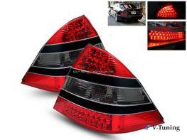 Фонари задние MERCEDES S W220 (98-05) - стиль W221 - красно-чёрные