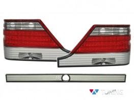 Фонари задние MERCEDES S W140 (95-98) - диодные красно-белые