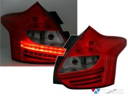 Фонари задние FORD Focus Mk3 (11-14) HB RED SMOKE LED