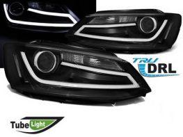 Фары чёрные VW Jetta A6 (11-18) диодные трубки