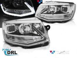Фары VW T6 (2015-) - хром диодные DRL