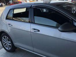 Ветровики VW Golf VII (12-) 5D HB - Niken (с хром молдингом)