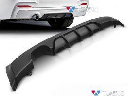 Диффузор задний BMW F22 / F23 (14-) M-T/P - один выхлоп