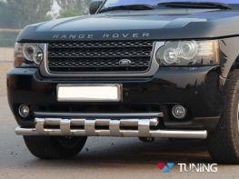 Защита передняя Range Rover III Vogue (02-12) - дуга зубьями