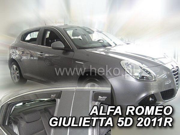Ветровики ALFA ROMEO Giulietta (2010-) 5D HEKO 4 шт