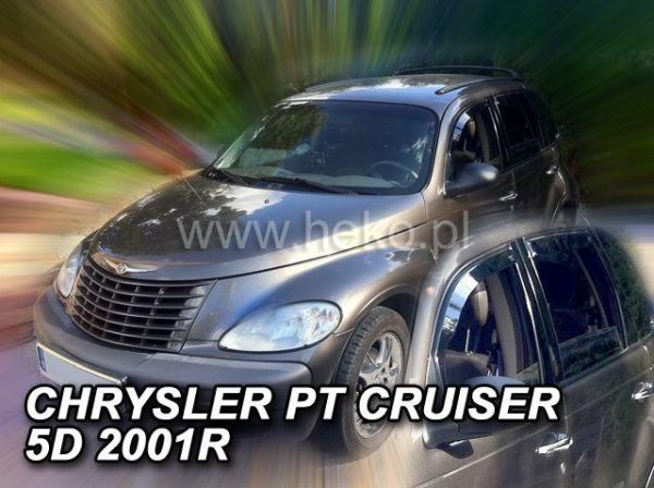 Ветровики CHRYSLER PT Cruiser (2000-) 5D HEKO