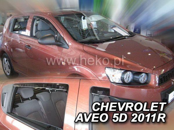 Ветровики (дефлекторы окон) CHEVROLET Aveo T300 Hatchback - HEKO - задние