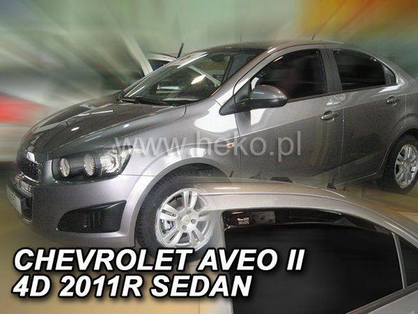 Ветровики CHEVROLET Aveo T300 (2011-) Sd HEKO