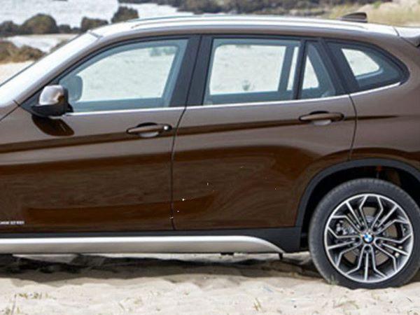 Хром нижняя окантовка стёкол BMW X1 E84 (2009-)