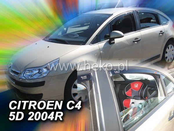Ветровики CITROEN C4 I (2004-2010) 5D HEKO
