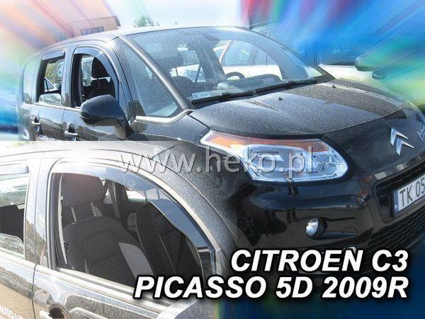 Ветровики CITROEN C3 Picasso (2009-) 5D HEKO