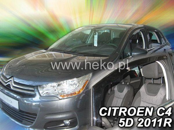 Ветровики CITROEN C4 II (2011-) 5D HEKO