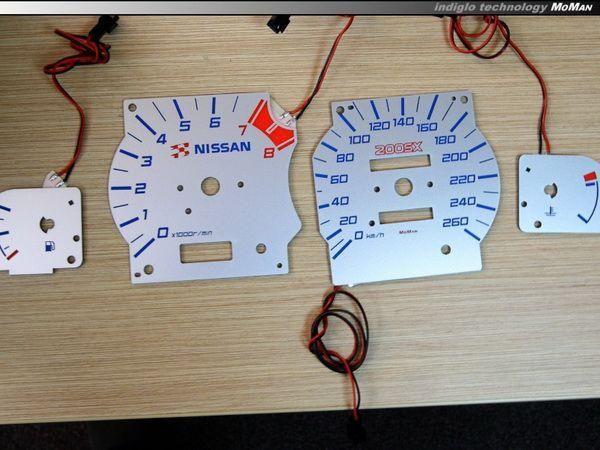 Шкалы щитка приборов NISSAN Silvia S14 200SX шаблон 1