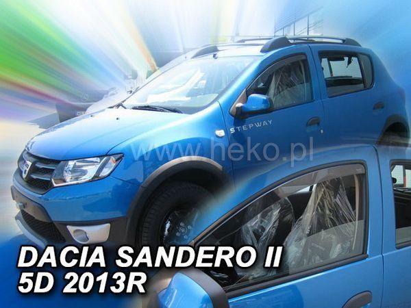 Ветровики DACIA Sandero II (2013+) - HEKO (вставные) 1