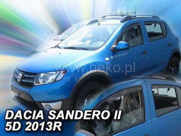 Ветровики DACIA Sandero II (2013+) - HEKO (вставные) 2