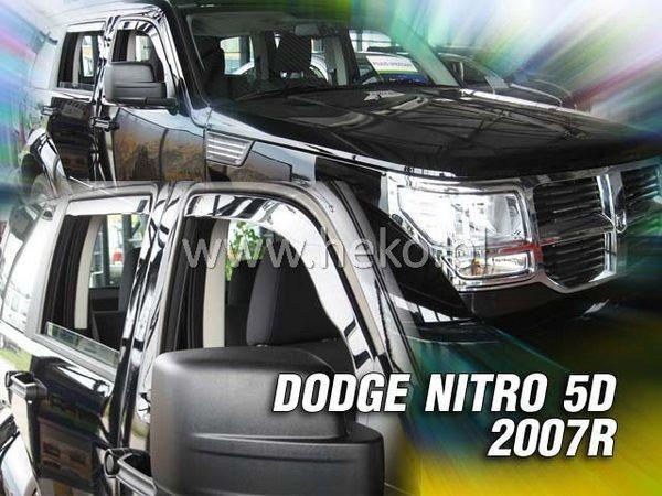 Ветровики DODGE Nitro (2007-) 5D HEKO