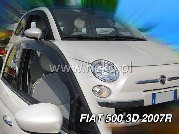 Ветровики FIAT 500 (2007-) 3D HEKO три двери