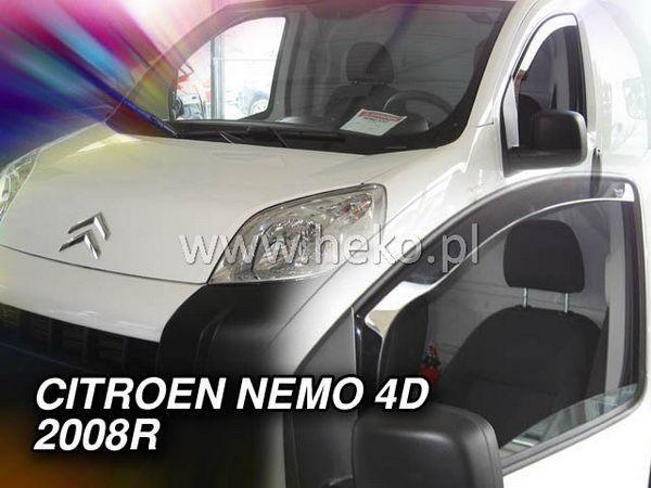 Ветровики CITROEN Nemo (2008-) 4D/5D HEKO