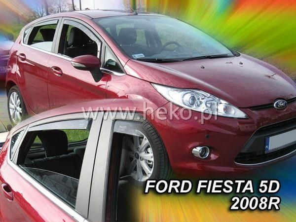 Ветровики FORD Fiesta Mk7 (2008-) 5D HEKO