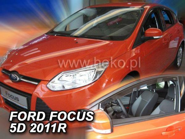 Ветровики FORD Focus III (2011-) 5D HB/Sedan HEKO
