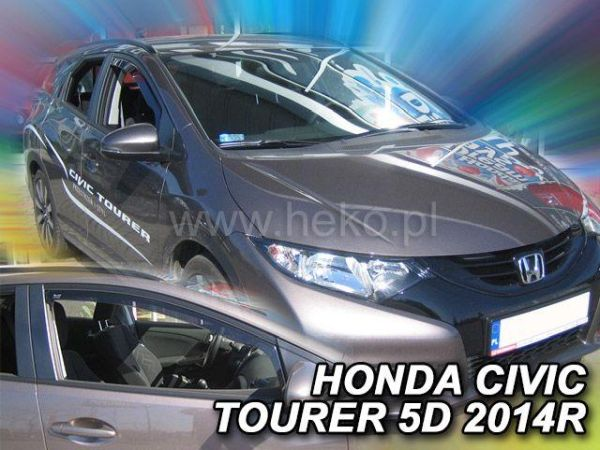 Ветровики HONDA Civic IX (2014-) 5D Tourer HEKO