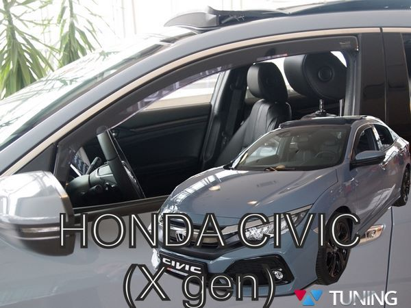 Ветровики HONDA Civic 10 X Hatchback - HEKO (вставные) 2