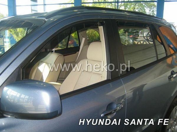 Ветровики HYUNDAI Santa Fe II (2006-2012) 5D HEKO