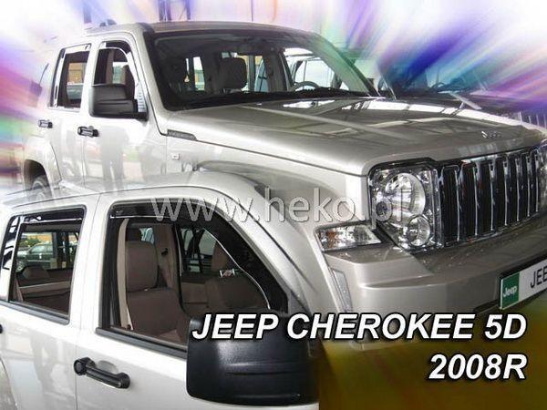 Ветровики JEEP Cherokee (KK) (2008-) 5D HEKO