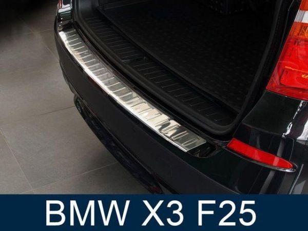 Накладка заднего бампера (сталь, Польша) BMW X3 F25 (11-14)
