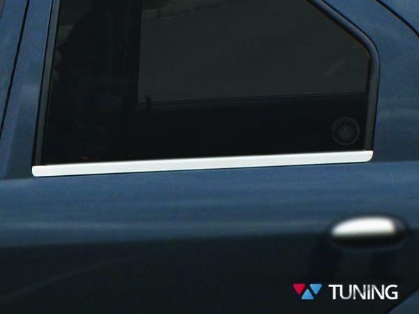 Хром нижняя окантовка стёкол DACIA Logan (04-11) Sedan