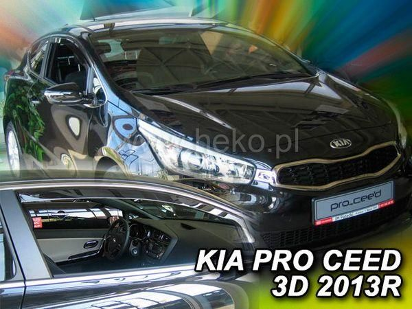 Ветровики KIA Pro Ceed II (2013-) 3D HB HEKO