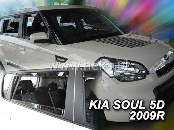 Ветровики KIA Soul (2009-) 5D HEKO