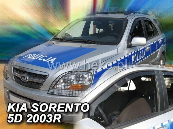 Ветровики KIA Sorento I (2002-2009) 5D HEKO
