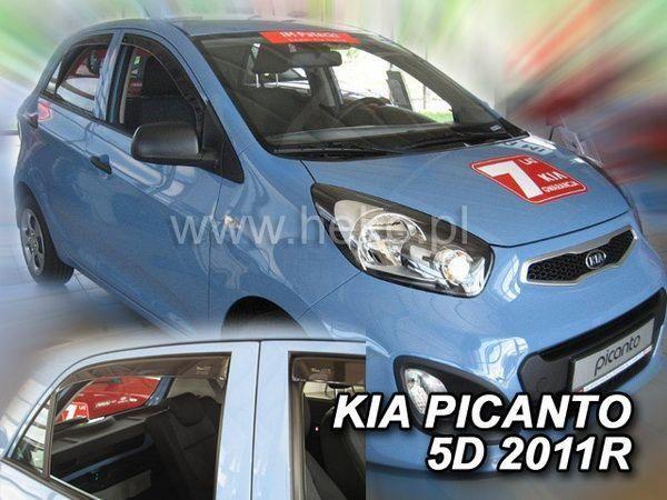 Ветровики KIA Picanto II (TA) (2011-) 5D HEKO
