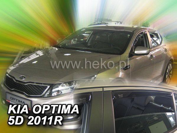 Ветровики KIA Optima (TF) (2010-) 5D HEKO