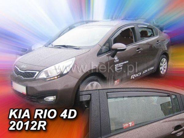Ветровики KIA Rio III (2011-) 4D Sedan HEKO