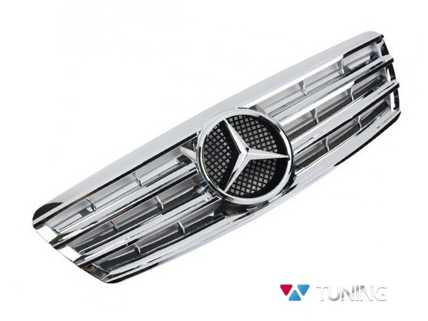 Решётка радиатора MERCEDES W203 - хром CL стиль 1