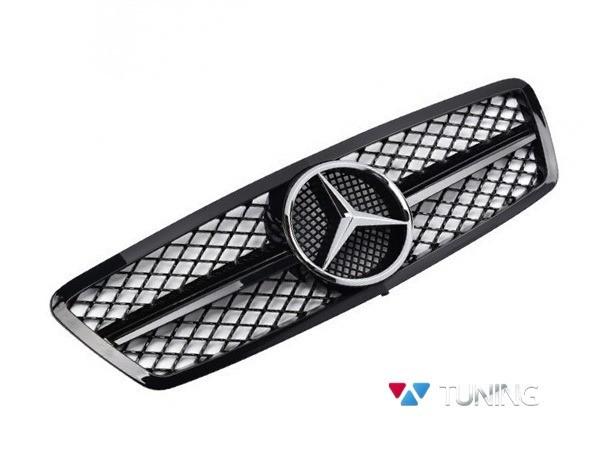 Решётка радиатора MERCEDES W203 - чёрная глянцевая SL 1