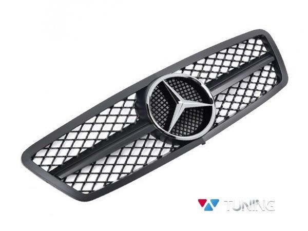 Решётка радиатора MERCEDES W203 - чёрная матовая SL стиль 1