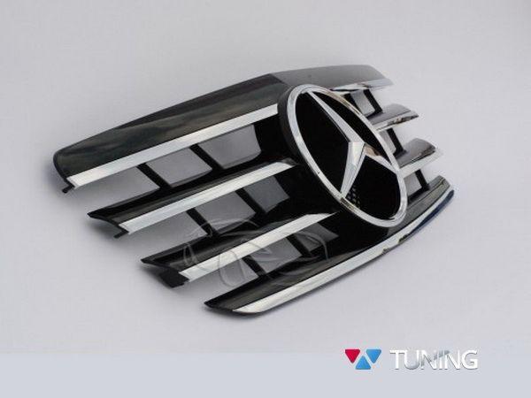 Решётка MERCEDES E W210 (99-02) - чёрная / хром CL 3