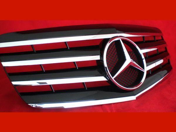 Решётка MERCEDES E W211 рестайлинг - CL стиль с хром полосками 3