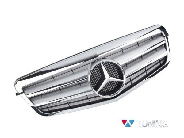 Решётка MERCEDES W212 (09-13) - CL стиль хром серебряная 1
