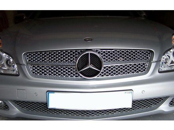 "Решётка серебро/хром ""SLS"" MERCEDES CLS W219 FL (08-10)"